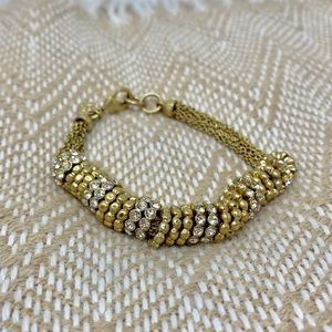 BANANA REPUBLIC gold bracelet with fake diamonds